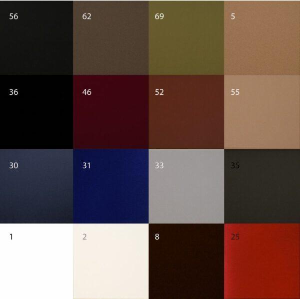 Farben der Akustikplatten der Diffusorfrontplatte.