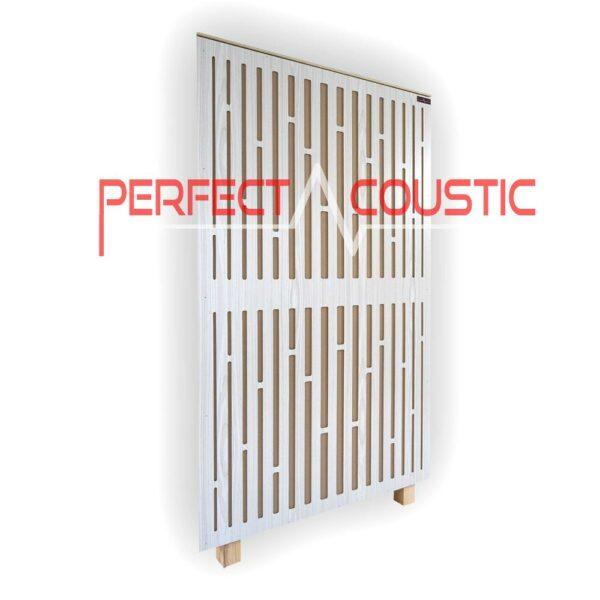 Diffusor-Frontplatte Akustikplatte in Weiß (1)
