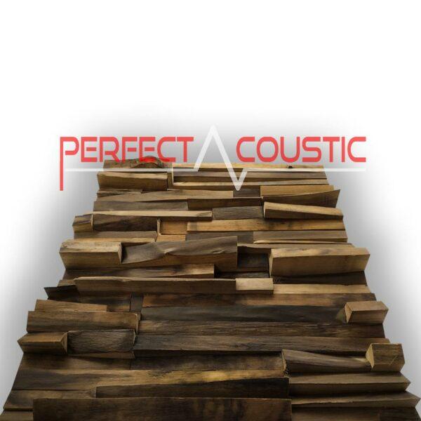 Edelholz Akustikdiffusor von der Seite
