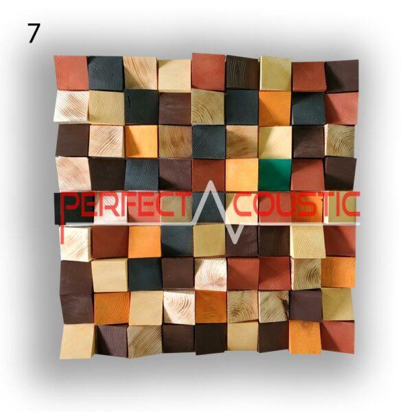 Kunst Akustik Diffusor 7 Farbmuster, vorne. (3)