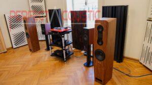 Diffusor Akustikplatten in Baraby Gabeln....