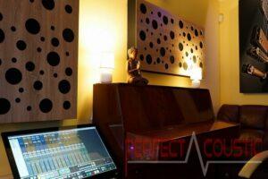 Diffusor Frontplatte Akustikplatte in einem Haus.