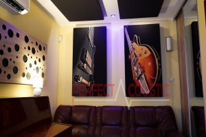 Diffusor Frontplatte Akustikplatte in einem Haus...Bedruckte Akustikpaneele
