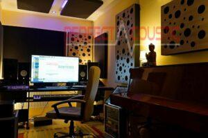 Diffusor Frontplatte Akustikplatte in einem Haus....