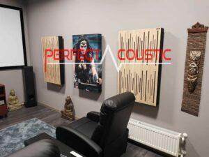 Diffusor Frontplatte Akustikplatten für Wände