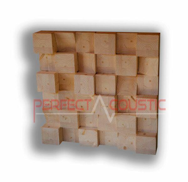 Holzwürfel Akustik Diffusor