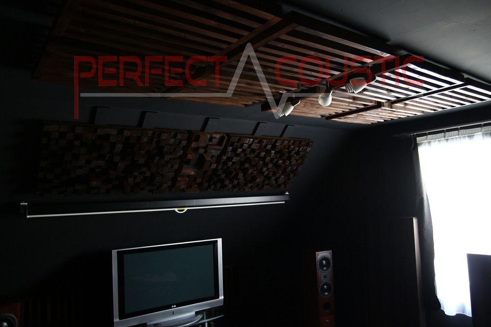 Platzierung des Akustikdiffusors an der Wand..