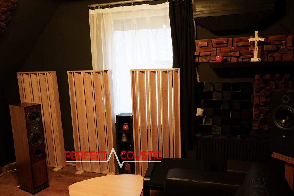 Platzierung des Akustikdiffusors an der Wand