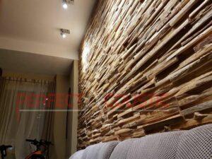 Platzierung des Schalldiffusors an der Wand..