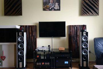 Schalldiffusor am Lautsprecher-Akustikplatte mit Diffusor-Raumakustik