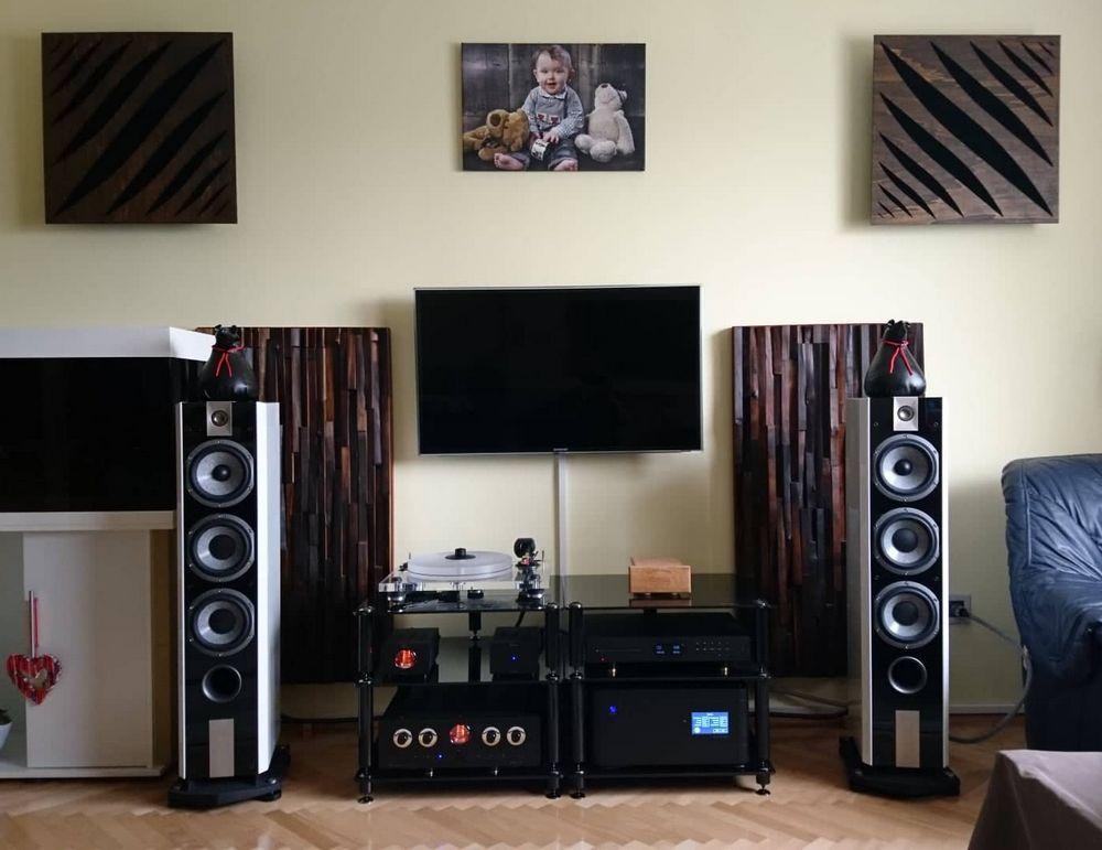 Schalldiffusor am Lautsprecher-Akustikplatte mit Diffusor