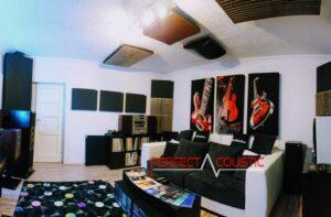 Verwendung einer Bassfalle in Ricsis Zimmer.