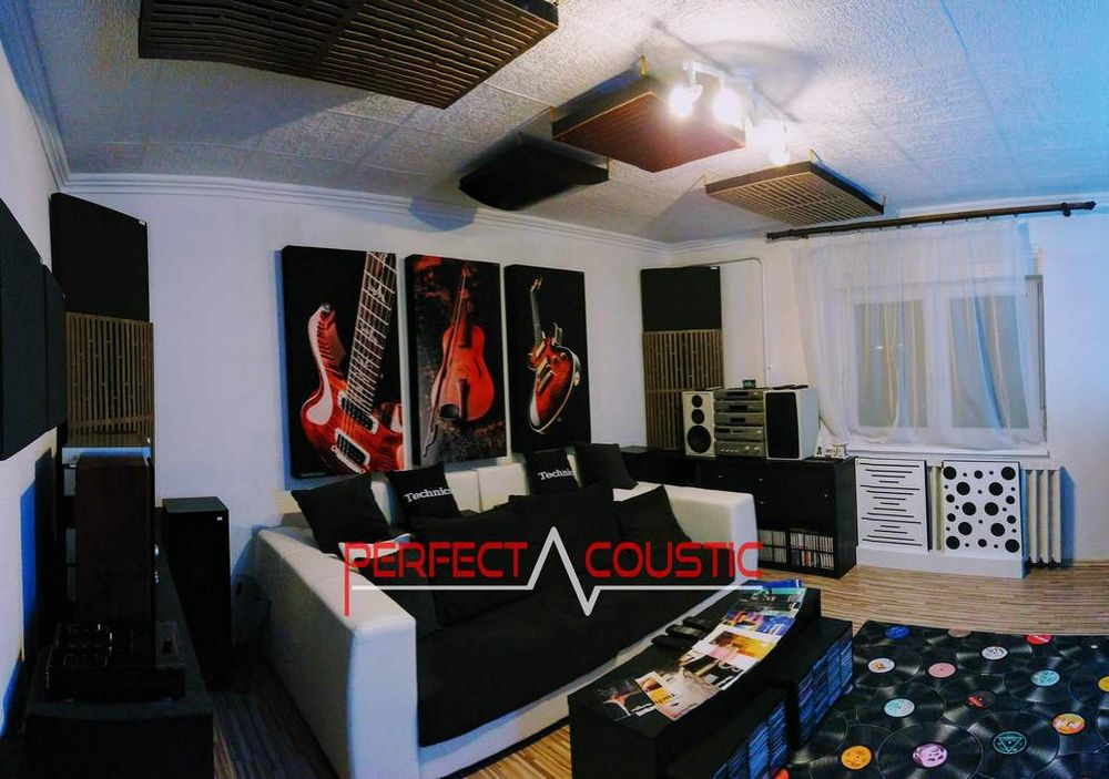 Verwendung einer Bassfalle in Ricsis Zimmer. Warum brauchen wir bedruckte Akustikpaneele?