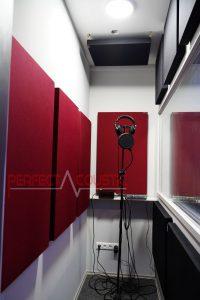 akustikpaneele in burgunder Farbe