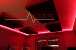 akustikpaneele in burgunder Farbe...