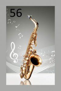 künstlerische Akustikplatte Saxi