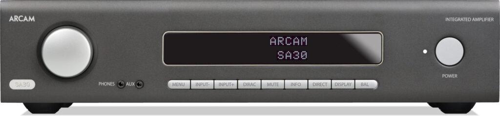 Arcam-SA30-Verstärker-Frontplatte