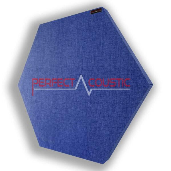 sechseckig gemustertes Panel-Blau