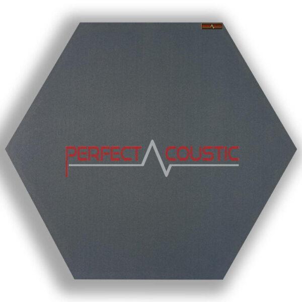 sechseckige Platte grau 1.