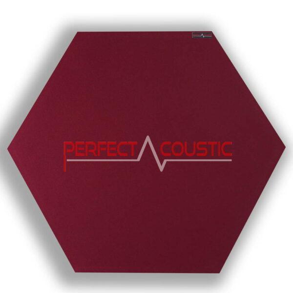 sechseckige Platte rot