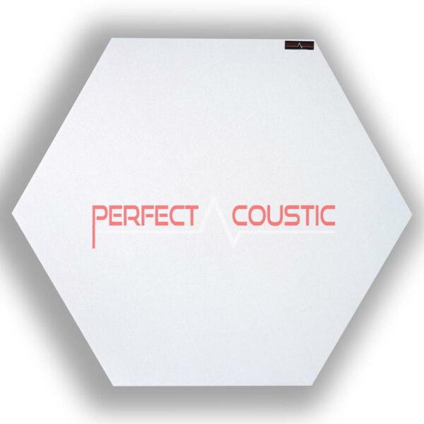 sechseckige Platte weiß