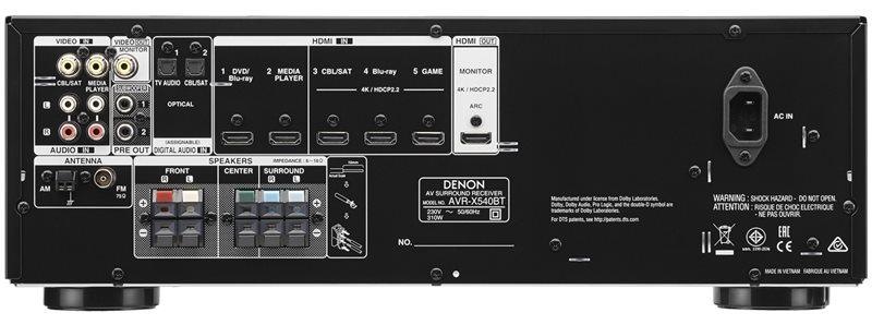 AVR-X540BT-Empfänger-Rückseite