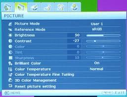 MH530-Einstellungsmenü